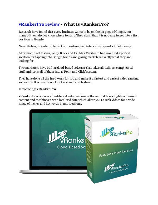 Markeitng vRankerPro review-(SHOCKED) $21700 bonuses