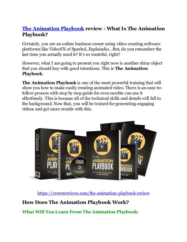 Markeitng The Animation Playbook review