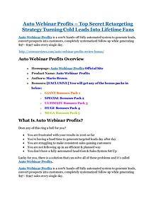 MarketingAuto Webinar Profits Review-MEGA $22,400 Bonus & 65% DISCOUNT