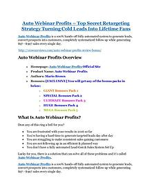 MarketingAuto Webinar Profits Review-MEGA $22,400 Bonus & 65% DISCOUNT