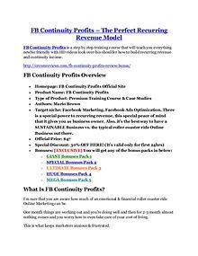 Markeitng FB Continuity Profits review and (SECRET) $13600 bonus