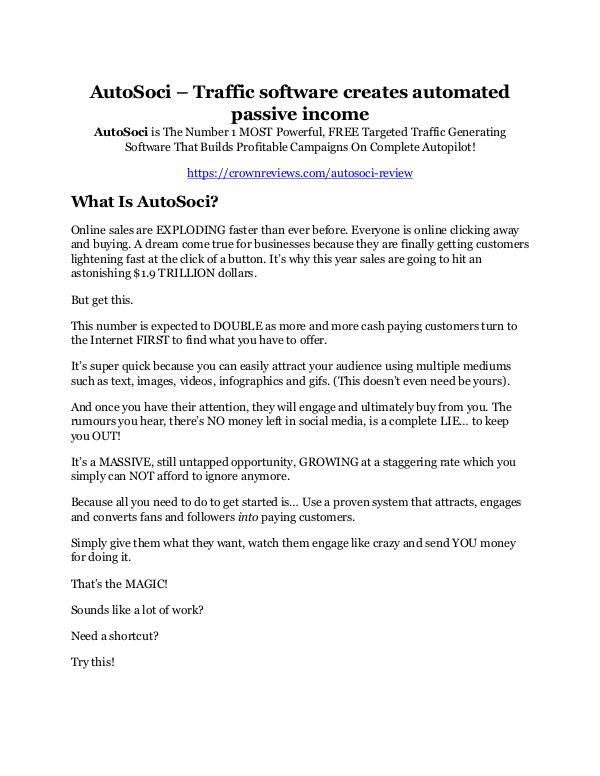 AutoSoci Review & (Secret) $22,300 bonus NOW AutoSoci Review