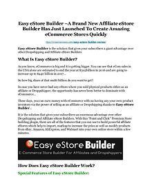 Easy eStore Builder review & (GIANT) $24,700 bonus NOW