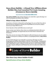 Easy eStore Builder review & (GIANT) $24,700 bonus NOW