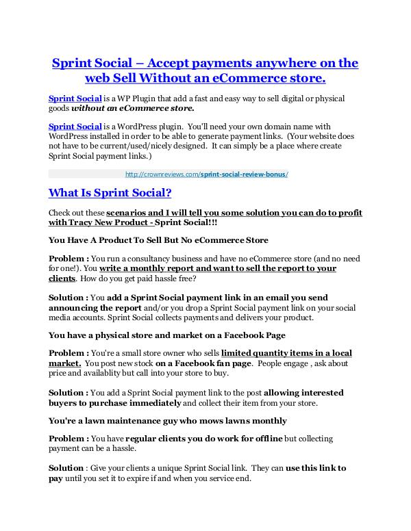Sprint Social Review and GIANT $12700 Bonus-80% Discount Sprint Social review & Sprint Social (Free) $26,700 bonuses