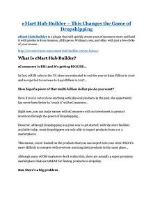 eMart Hub Builder review-SECRETS of eMart Hub Builder and $16800 BONUS