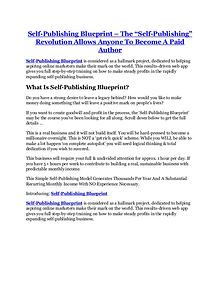 Self-Publishing Blueprint review in detail and (FREE) $21400 bonus
