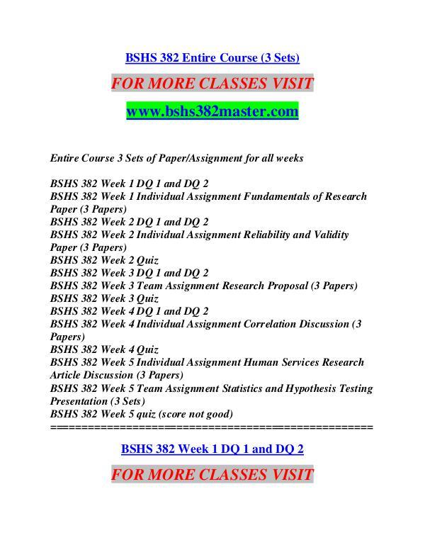 BSHS 382 MASTER Future Starts Here/bshs382master.com BSHS 382 MASTER Future Starts Here/bshs382master.c