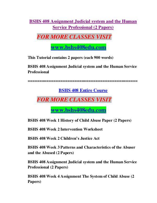 BSHS 408 EDU Future Starts Here/bshs408edu.com BSHS 408 EDU Future Starts Here/bshs408edu.com