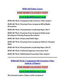 BSHS 465 MENTOR Future Starts Here/bshs465mentor.com