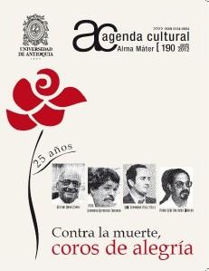 Agenda Cultural UdeA - Año 2012 AGOSTO