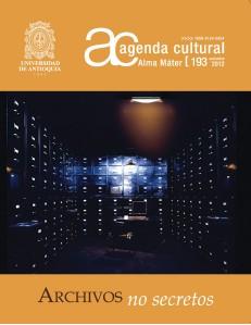 Agenda Cultural UdeA - Año 2012 NOVIEMBRE