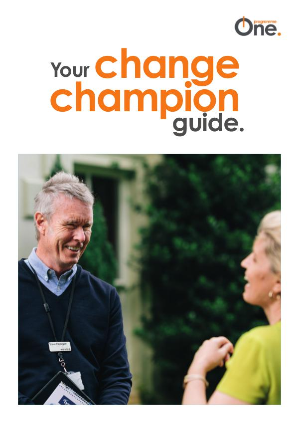 Champions Guide Welcome to programme One