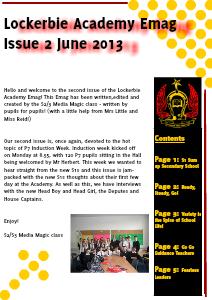 Lockerbie Academy News Release: Induction Week Issue 2 June 2013