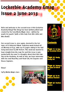 Lockerbie Academy News Release: Induction Week