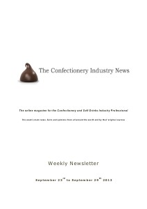 The Confectionery Industry News SEPTEMBER 23 to SEPTEMBER 29, 2013