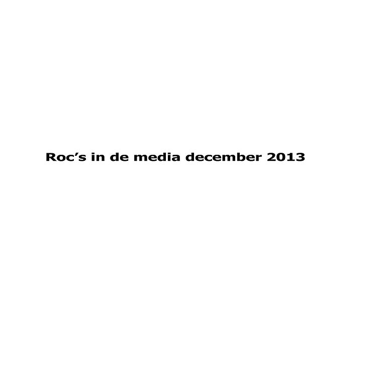 roc's in de media december 2013