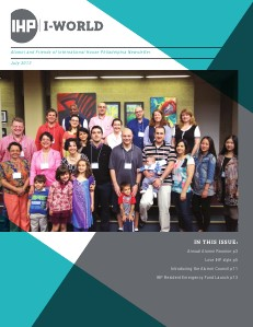I-World: Alumni and Friends of International House Newsletter July 2013