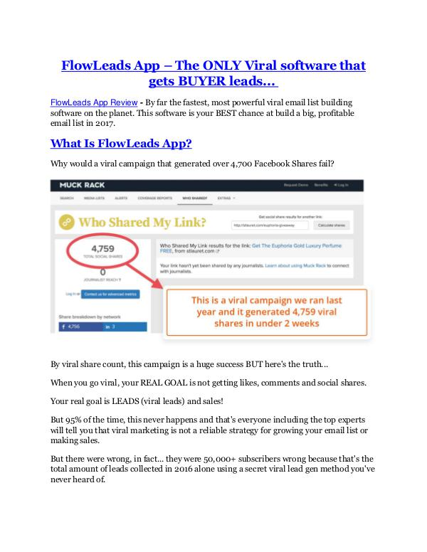 Marketing FlowLeads App Review and $30000 Bonus - FlowLeads
