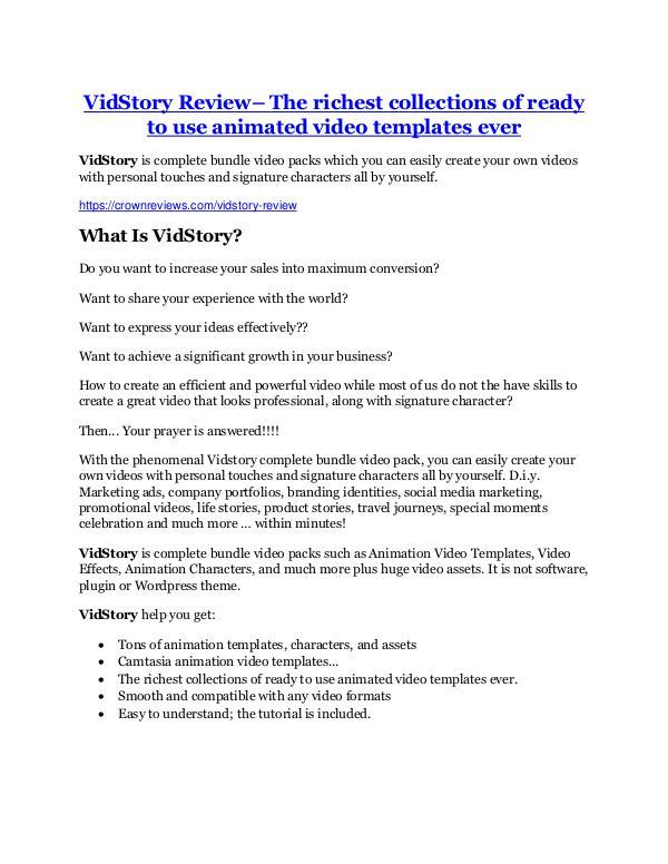 Marketing VidStory review & (GIANT) $24,700 bonus
