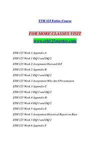 ETH 125 MENTOR Redefine Possible/eth125mentor.com