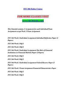 FIN 366 EDU Redefine Possible/fin366edu.com