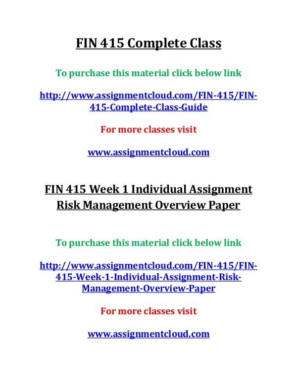 uop fin 415,uop fin 415,uop fin 415 entire course,uop fin 415 entire FIN 415 Complete Class