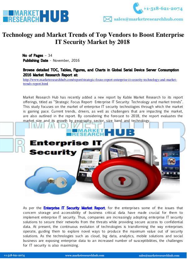 Market Research Report Enterprise IT Security Market Trends Report
