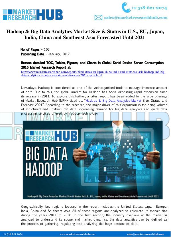 Market Research Report Hadoop & Big Data Analytics Market Size Report