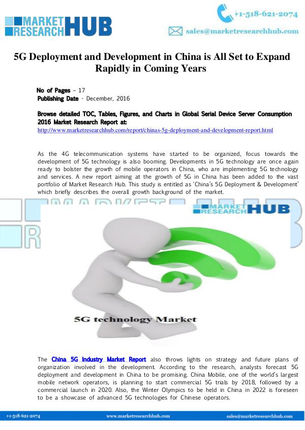 Market Research Report China 5G Deployment and Development Market Report