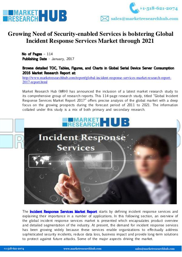 Market Research Report Global Incident Response Services Market Report