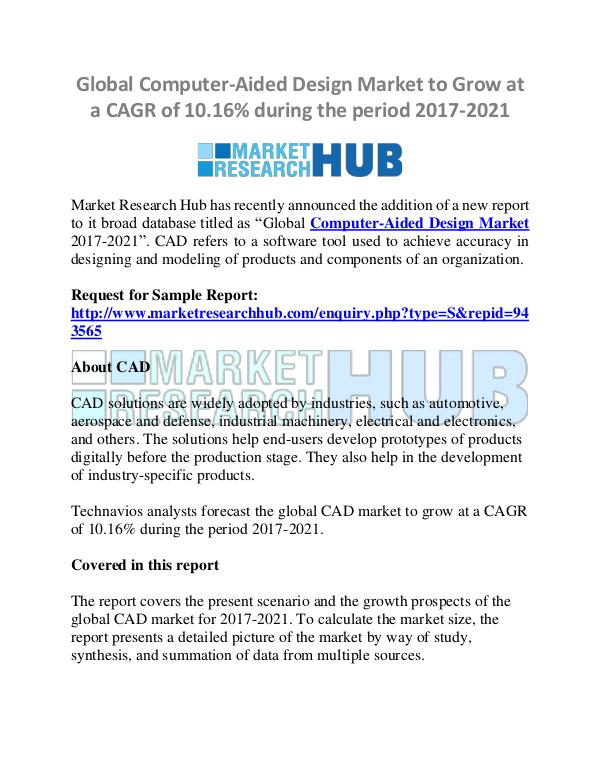 Market Research Report Computer-Aided Design Market Research Report