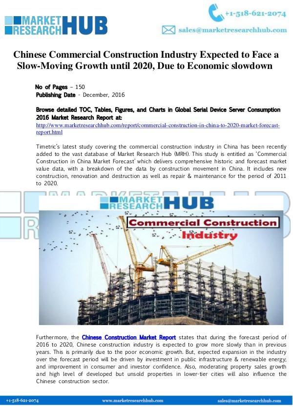 Market Research Report Chinese Commercial Construction Industry Market