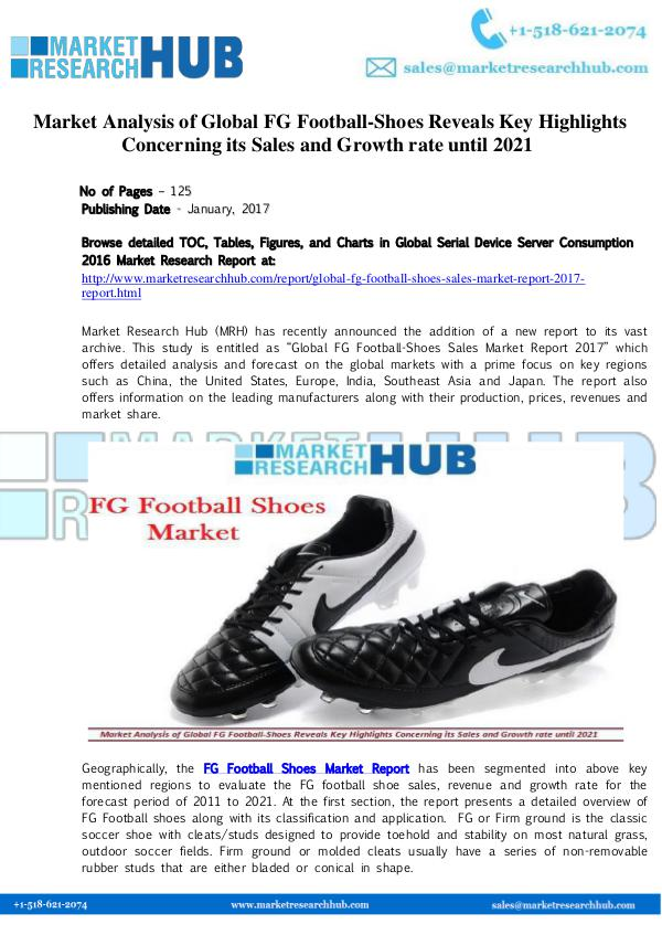 Market Research Report Market Analysis of Global FG Football-Shoes