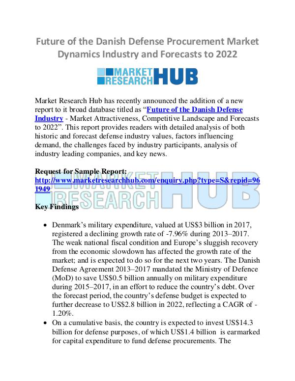 Market Research Report Danish Defense Procurement Market Dynamics Industr