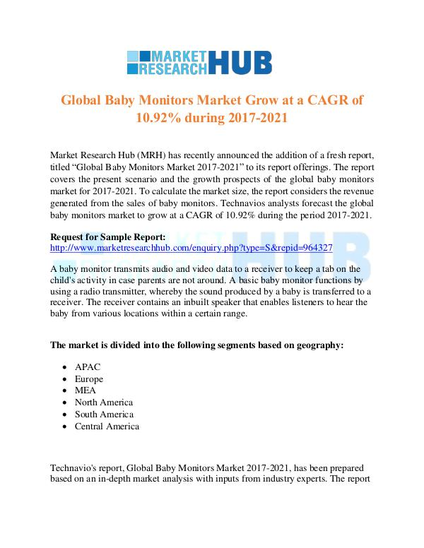 Market Research Report Global Baby Monitors Market Growth Report