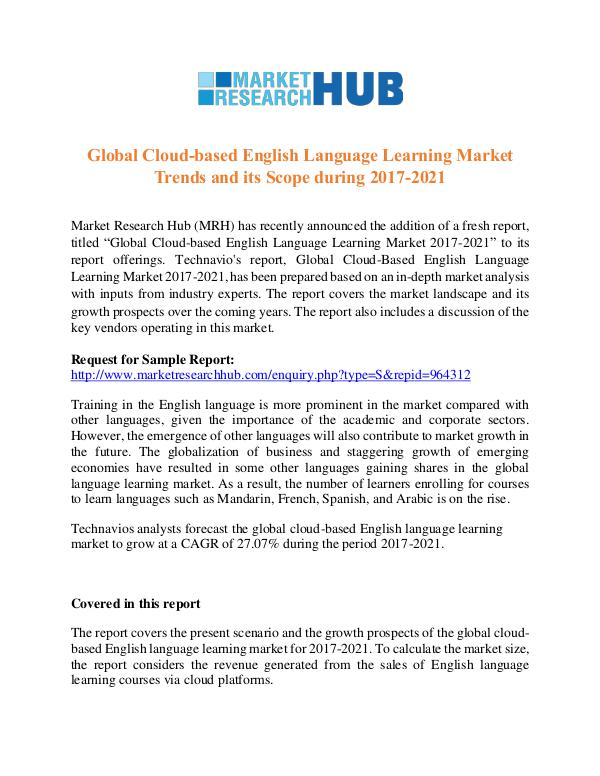 Market Research Report Cloud-based English Language Learning Market Trend