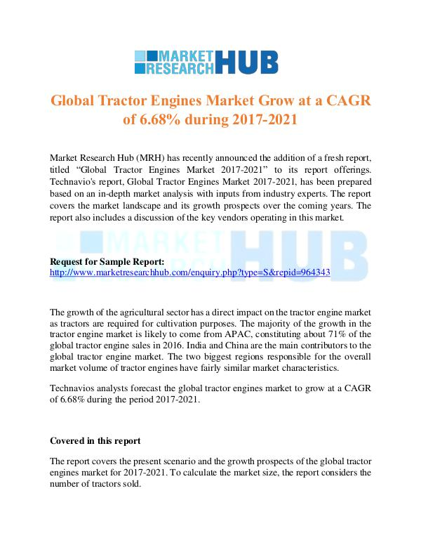 Market Research Report Global Tractor Engines Market Growth Report