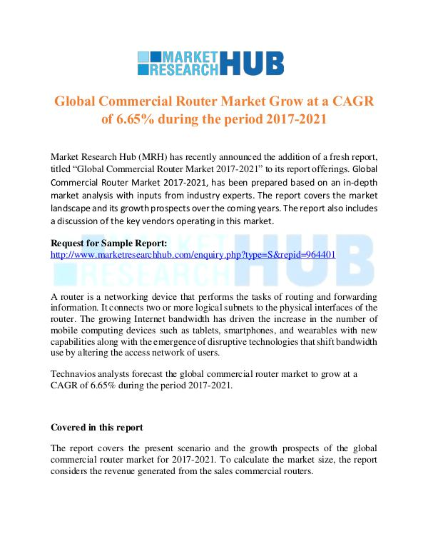 Market Research Report Global Commercial Router Market Growth Report 2021
