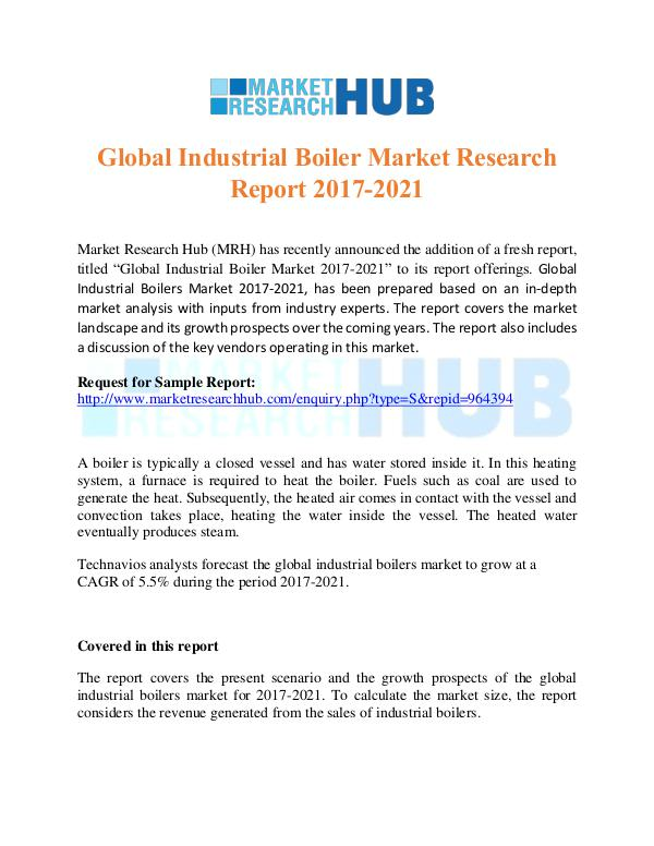 Market Research Report Global Industrial Boiler Market Research Report