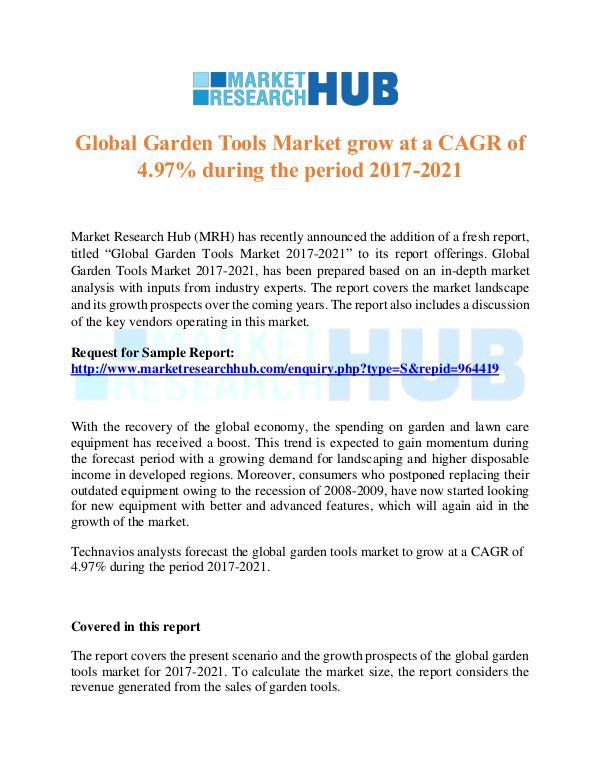 Market Research Report Global Garden Tools Market Trends Report