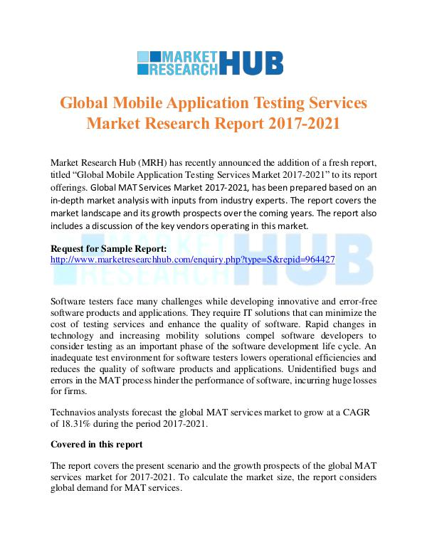 Market Research Report Mobile Application Testing Services Market Report