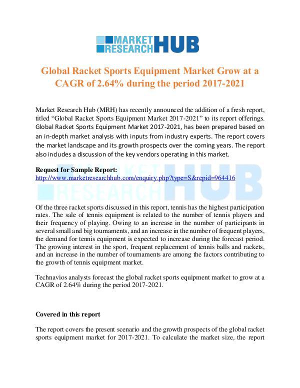 Market Research Report Global Racket Sports Equipment Market GrowthReport