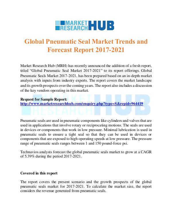 Market Research Report Global Pneumatic Seal Market Trends  Report