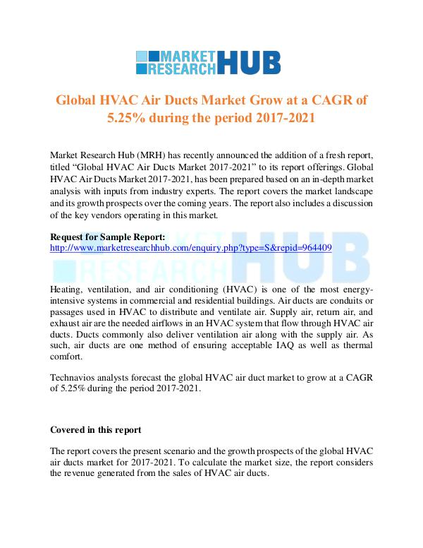 Market Research Report Global HVAC Air Ducts Market Report