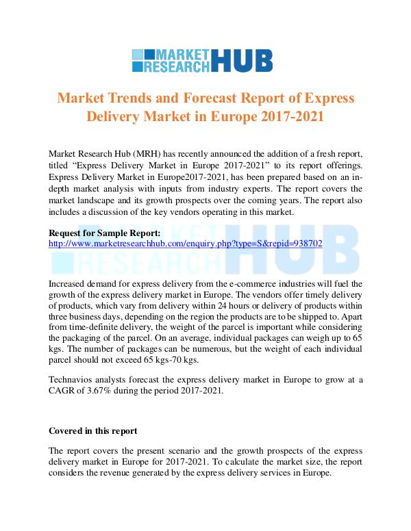 Market Research Report Express Delivery Market Trends Report