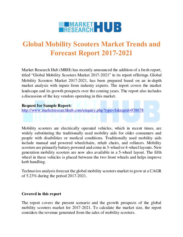 Market Research Report Global Mobility Scooters Market Trends Report