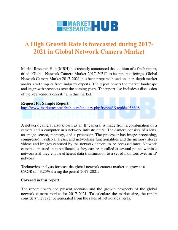 Market Research Report Global Network Camera Market Report 2017