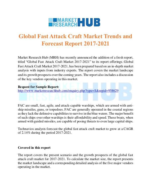 Market Research Report Global Fast Attack Craft Market Trends
