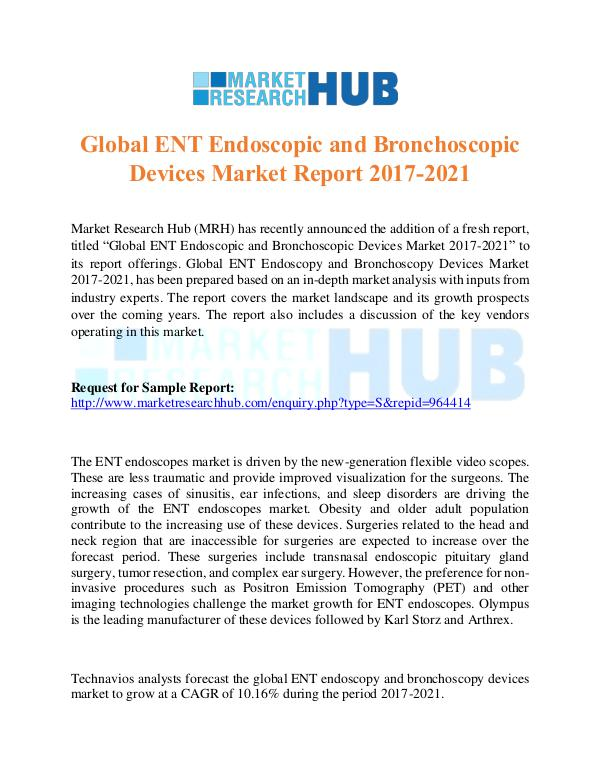 Market Research Report ENT Endoscopic and Bronchoscopic Devices Market